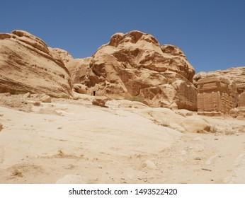 Petra ruins djinn blocks (Jordan)