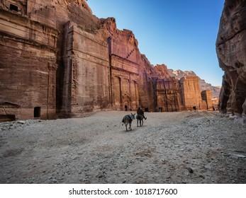 Petra street of facades, Jordan