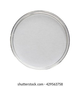 A Petri dish (aka Petrie dish, Petri plate or cell culture dish) cylindrical glass or plastic lidded dish used to culture cells such as bacteria or mosses - isolated over white