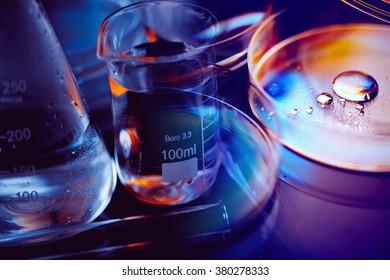 Petri dishes. Laboratory concept.