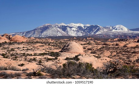 petrified sand dunes in arches national park, near moab, utah
