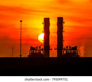 Petrochemical factory in the morning of fresh new day put.