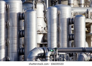 petrochemical industrial plant  close up