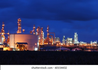 Petrochemical industry during sunset