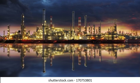 Petrochemical industry - Oil refinery and factory