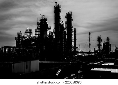 Petrochemical plant background