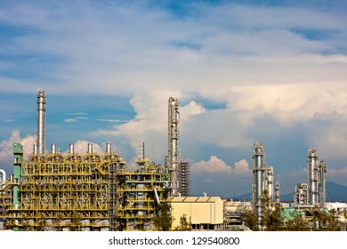 petrochemical plant in blue sky