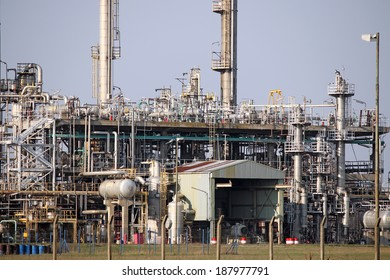petrochemical plant detail heavy industry