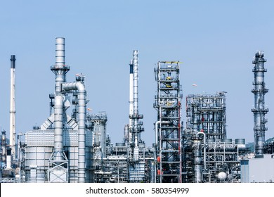 Petrochemical plant, oil refinery factory