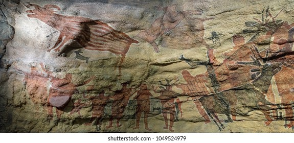 petroglyph Mexican cave painting reproduction