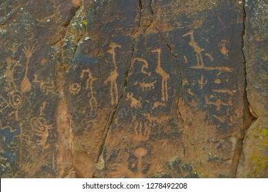 Petroglyph panel at the V Bar V Ranch site in Northern Arizona