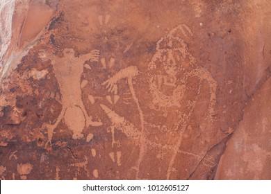 Petroglyphs at The Birthing Scene in Moab, Utah.