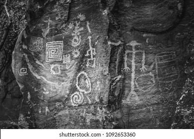 Petroglyphs in Camp Verde Arizona
