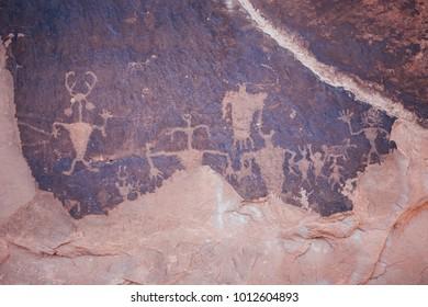 Petroglyphs in Moab, Utah