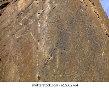 Petroglyphs from Paleolithic period, Canada do Inferno, Coa Valley, Portugal