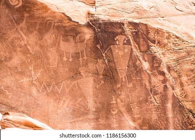 Petroglyphs Utah Dinosaur National Monument