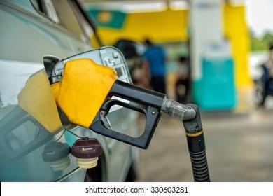 Petrol pump filling
