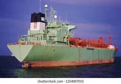 Petrol tanker anchored in Algeciras bay, in Cadiz.
