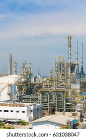 Petroleum and chemical refinery industrial zone in sunny day
