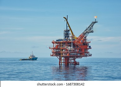 Petroleum platform oil and gas at sea