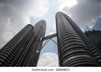 The Petronas Towers in Kuala Lumpur, Malaysia. 3 March 2011.