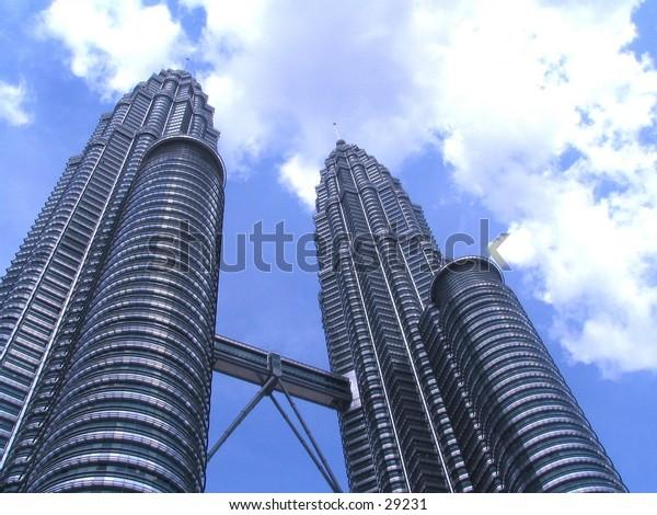 Petronas Twin Towers in Kuala Lumpur, Malaysia, the tallest twins in the world!