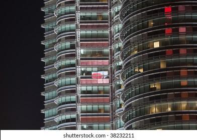 Petronas twin towers at night - Kuala Lumpur