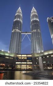 Petronas Twin Towers (Suria KLCC) at twilight