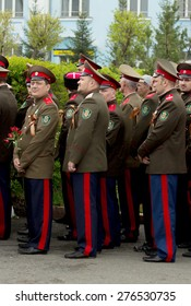 Petropavlovsk, Kazakhstan - MAY 9:  Victory Day on May 9, 2015 in Petropavlovsk, Kazakhstan, soldiers and military.