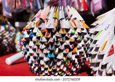 PETROPOLIS, RIO DE JANEIRO / BRAZIL - August 13, 2017: Origamis at the Japanese Culture Festival in honor of the Japanese immigrants in the Imperial City of Petropolis - Bunka-Sai