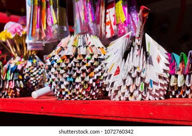 PETROPOLIS, RIO DE JANEIRO BRAZIL - August 13, 2017: Origami at the Japanese Culture Festival in honor of the Japanese immigrants in the Imperial City of Petropolis