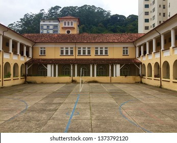 PETROPOLIS, RIO DE JANEIRO, RJ/BRAZIL: ABR 14 2019. historical building of the school pedro II