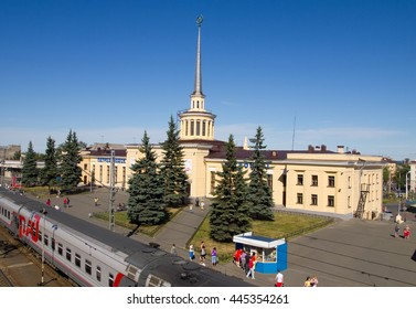 PETROZAVODSK, Russia - september 11 2010, Railway station of Petrozavodsk