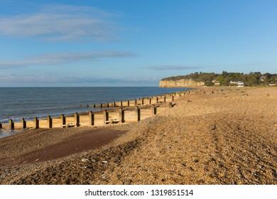 Pett beach near Fairlight Wood, one of the beaches near Hastings and Battle East Sussex England UK