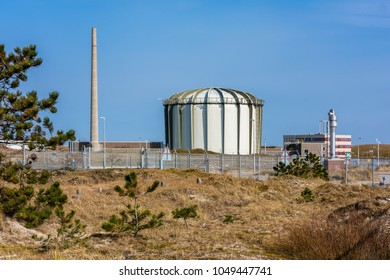 Petten, Netherlands - March 17, 2018: Nuclear Reactor at the Energy Research Centre in Petten, Netherlands. Petten is a large producer of radioactive material for the purpose of medical diagnosis.