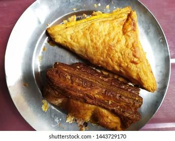 petties in plate Indian dish.