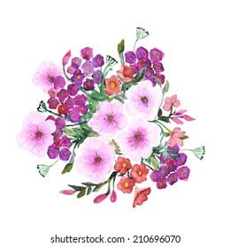 petunia flowers seamless pattern
