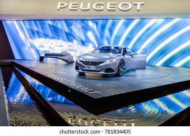 Peugeot Exalt concept at Paris Auto Motor Show. Paris, France - October 5, 2014