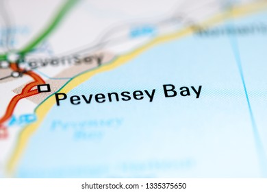 Pevensey Bay. United Kingdom on a geography map