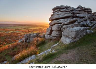 Pew Tor Dartmoor National Park devon Uk