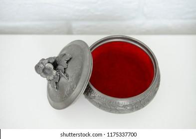 pewter jewelry box