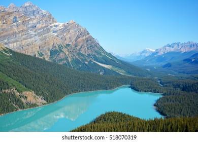 Peyto Lake in Alberta, Canada