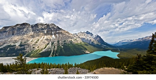 Peyto lake in Banff Alberta