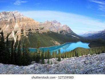Peyto Lake & Caldron Peak, Banff National Park, Alberta, Canada Approx 30 Miles North of Lake Louise