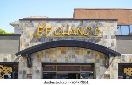 PF Changs restaurant in Los Angeles - LOS ANGELES / CALIFORNIA - APRIL 20, 2017