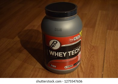 PF Whey Tech tub - protein powder - Kongsvinger, Norway (6th january 2019)