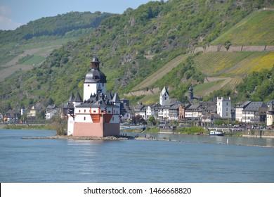 Pfalzfragenstein Castle on the Rhine