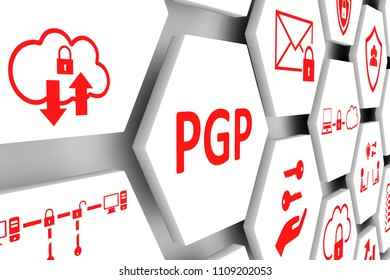 PGP concept cell background 3d illustration