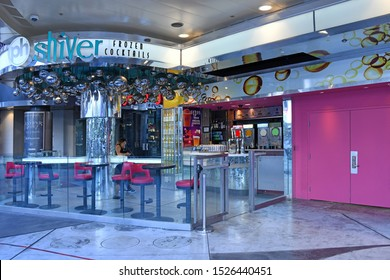 PH Shiver Frozen Cocktails. Las Vegas NV USA 10-3-18 Located right on the Strip,  offers many options of drinks to quench the thirst of tourists