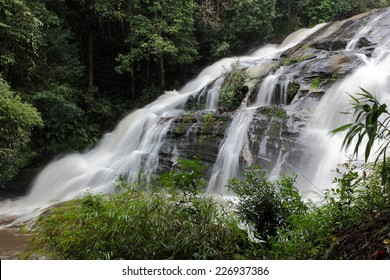 Pha Dok Xu waterfall at Doi Inthanon National park in Chiang Mai Thailand